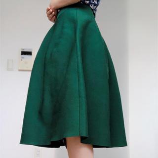 ベルメゾン(ベルメゾン)のベルメゾン ふんわりスカート グリーン(ひざ丈スカート)