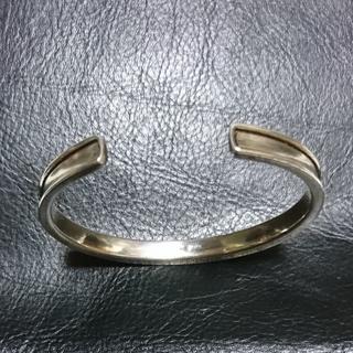 ヨンドシー(4℃)の4℃  silver バングル   極太(ブレスレット/バングル)