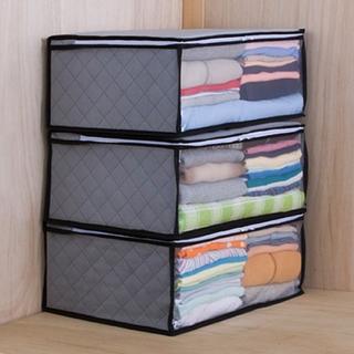 3枚組 衣類収納ケース 活性炭シート入り お得セット