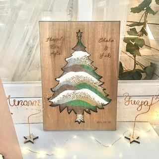 サンドセレモニー   ウェディングツリー  クリスマスツリー(ウェルカムボード)
