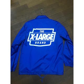 エクストララージ(XLARGE)のX-LARGE ブルー コーチジャケット(ナイロンジャケット)