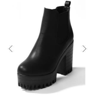 グレイル(GRL)の新品未使用 サイドゴア ショートブーツ  ブーツ 厚底(ブーツ)