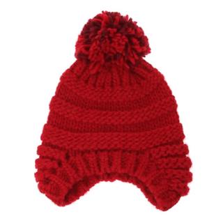 ミナペルホネン(mina perhonen)のSally Scott  耳当て風ニット帽(ニット帽/ビーニー)