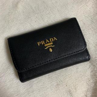 プラダ(PRADA)のprada キーケース ブラック(キーケース)
