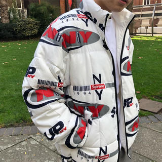 シュプリーム(Supreme)の[S] Supreme NY Reversible Puffy Jacket 白(ブルゾン)