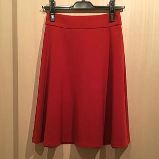 ジュエルチェンジズ(Jewel Changes)の新品タグ付 Jewel Changes 赤フレアスカート(ひざ丈スカート)