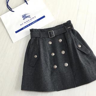 BURBERRY BLUE LABEL - バーバリーブルーレーベル ウール スカート 36サイズ