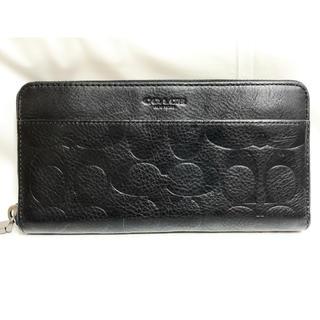 コーチ(COACH)の[送料無料]正規品✨ COACH 長財布 本革 ブラック(財布)