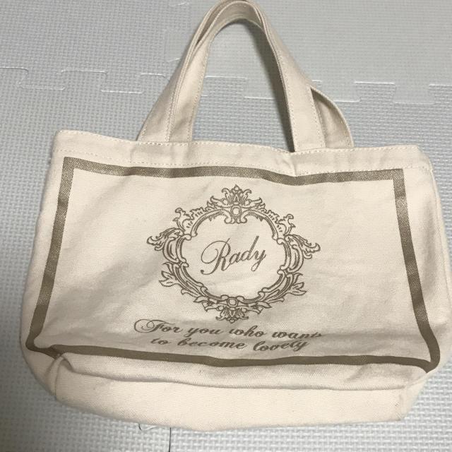 Rady(レディー)のRady♡ミニトートwhite レディースのバッグ(トートバッグ)の商品写真