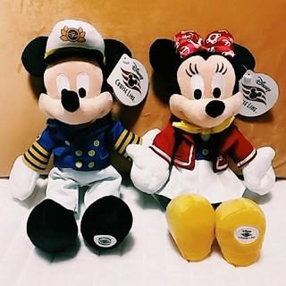 ディズニー(Disney)のディズニークルーズライン限定☆激レア☆新品!ミッキー&ミニーぬいぐるみ /WDW(ぬいぐるみ)