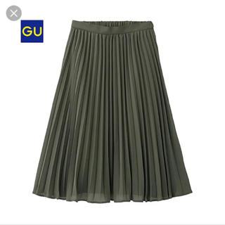 GU - プリーツスカート (オリーブ)