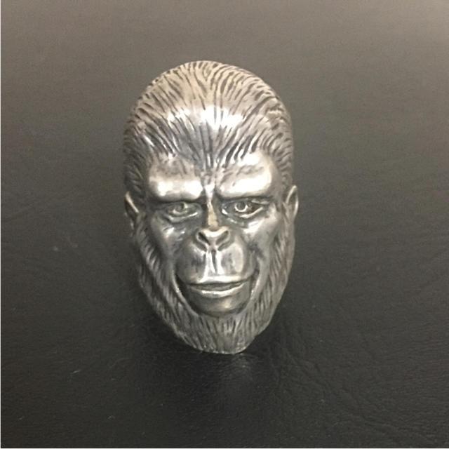 A BATHING APE(アベイシングエイプ)のForbidden Zone 猿の惑星シルバーリング メンズのアクセサリー(その他)の商品写真