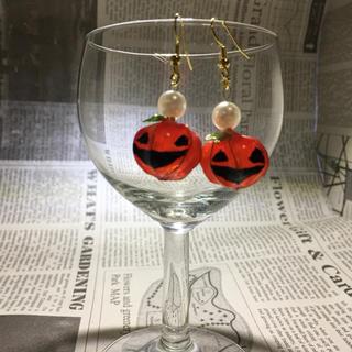 ハロウィンかぼちゃのピアス