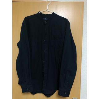 リサーチ(....... RESEARCH)のurban research ブラック ノーカラーシャツ スタンドカラーシャツ(シャツ)