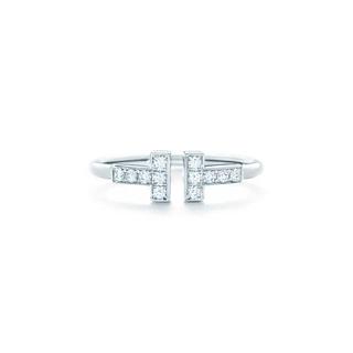ティファニー(Tiffany & Co.)のかなりお買い得!K18WGティファニー Tワイヤーリング(リング(指輪))