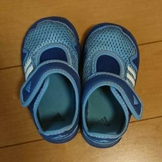 アディダス(adidas)のadidas ベビーサンダル(つま先あり)14㎝(サンダル)
