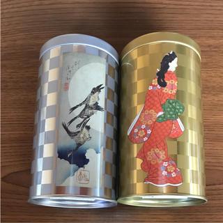 空缶 見返り美人図 月の雁 2つセット(小物入れ)