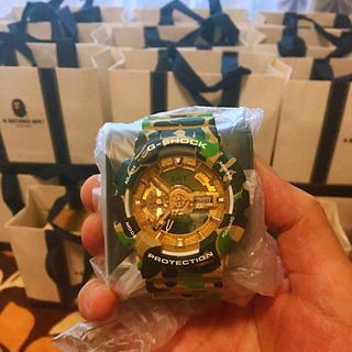 ジーショック(G-SHOCK)のA BATHING APE® X G-SHOCK GA-110(腕時計(デジタル))