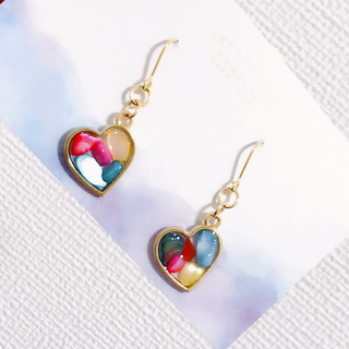■ colorful mini heart ピアス/イヤリング ■