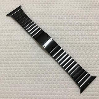 アップルウォッチ(Apple Watch)の純正美品 apple watch リンクブレスレット 42mm スペースブラック(金属ベルト)