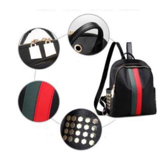 レディースバッグ リュック バックパック リュックサック 人気商品 最安値 赤黒(リュック/バックパック)