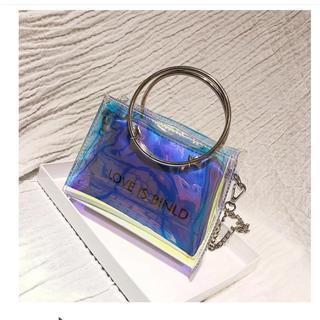 ☆スケルトンバッグ ☆透明 スクエア 鞄    (ショルダーバッグ)