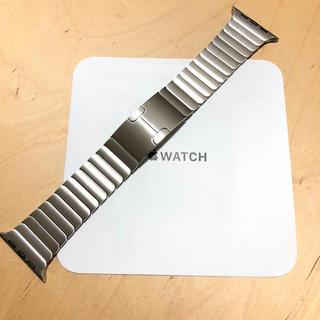 アップルウォッチ(Apple Watch)の[美品] 純正 apple watch  42mm リンクブレスレット シルバー(金属ベルト)