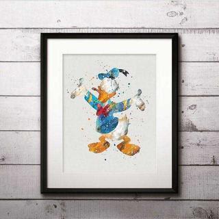 ディズニー(Disney)の日本未発売!ドナルドダック3・アートポスター【額縁つき・送料無料!】(ポスター)