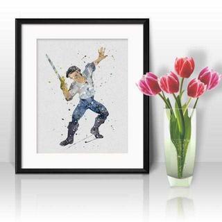 ディズニー(Disney)のエリック王子(リトルマーメイド)アートポスター【額縁つき・送料無料!】(ポスター)