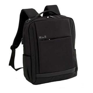 [新品☆]機能性抜群!USBポート付きリュック ブラック(ビジネスバッグ)