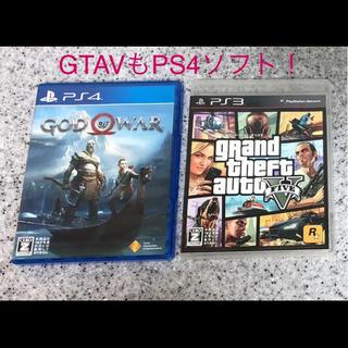 プレイステーション4(PlayStation4)のゴッドオブウォー&グンドセフトオートV ソフトのみPS4(家庭用ゲームソフト)