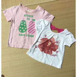 ベルメゾン(ベルメゾン)の女の子 Tシャツ サイズ80 2点セット(Tシャツ)