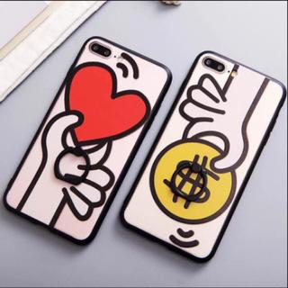 iPhone7 ケース コインかハート(iPhoneケース)