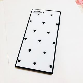 値下げ❗️新品 iphoneケース ハート スクエア (iPhoneケース)