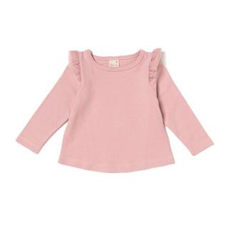 petit main - タグ付き新品♡プティマイン 肩チビフリルTシャツ 100cm