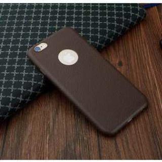 送料無料】 iPhone6/6s用 レザー 本革風 (ブラウン 茶色)(iPhoneケース)
