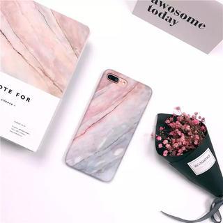 【新品】iPhone X  iPhone6/6sピンク大理石風iPhoneケース(iPhoneケース)