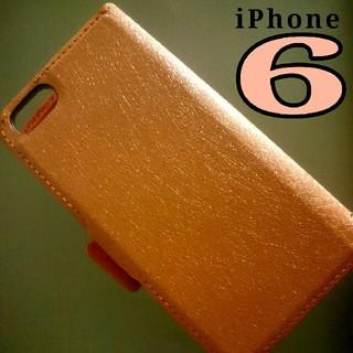 ◆手帳型ケースiPhone6◆ペールピンク(iPhoneケース)
