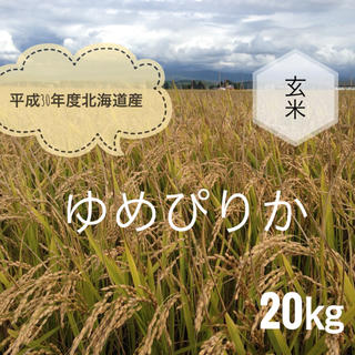 平成30年度北海道産ゆめぴりか玄米20㎏