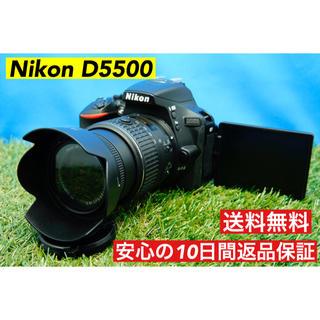 ニコン(Nikon)の本格カメラ デジタル一眼レフ 上級者向け Nikon D5500 バッテリー2個(デジタル一眼)