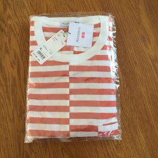 ユニクロ(UNIQLO)のUNIQLO メンズTシャツ XL オレンジ(Tシャツ/カットソー(半袖/袖なし))