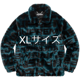 シュプリーム(Supreme)の【XLサイズ】Supreme faux fur repeater bomber(ブルゾン)