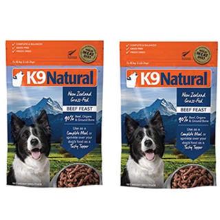 K9ナチュラル ビーフフィースト500g✖️2袋(ペットフード)