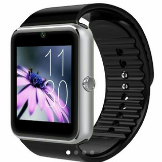 スマートウォッチgt08 黒銀 Bluetooth 新品未使用 箱無し品(腕時計(デジタル))