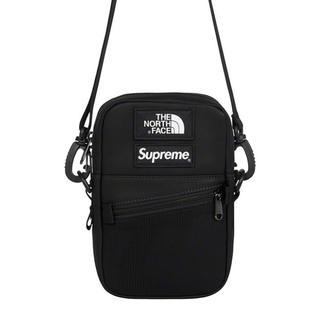 シュプリーム(Supreme)の【黒】supreme ノースフェイス レザーショルダーバッグ 2018FW(ショルダーバッグ)