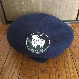 新品タグ付✴︎ネイビーベレー帽(ハンチング/ベレー帽)