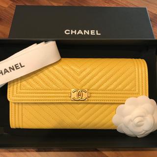 シャネル(CHANEL)の【 CHANEL 】シェブロンキルティング 二折り長財布(財布)