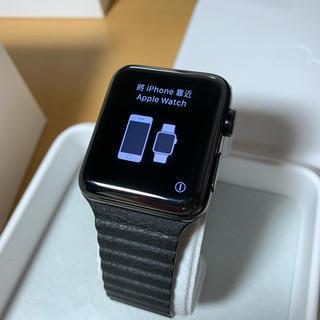 アップルウォッチ(Apple Watch)のApple Watch Series 2 42mm スペースブラックステンレス(その他)
