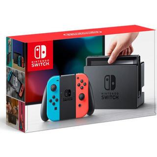 ニンテンドースイッチ(Nintendo Switch)の新品★ Nintendo Switch 本体 ネオンブルー/ネオンレッド(家庭用ゲーム本体)