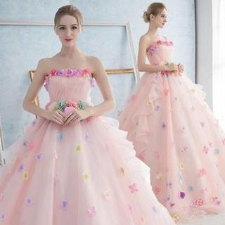 新品ウエディングドレス 編み上げタイプ 二次会花嫁ドレス